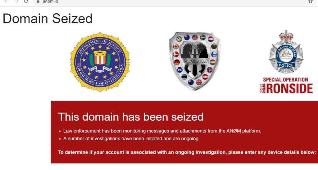 FBI Turned Anom App in a Honeypot to Monitor Criminals' Communications